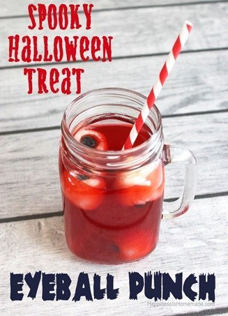 An Apero Dinatoire Halloween party eyeball punch