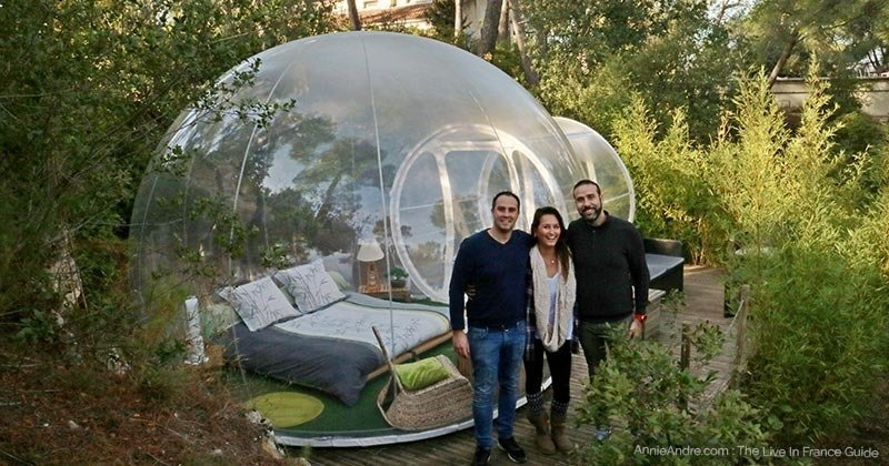 gl&ing at the Attrap Reves bubble hotel minutes from Marseille France & Sleep In A French Bubble Hotel: Attrap Reves-A Unique Glamping Site