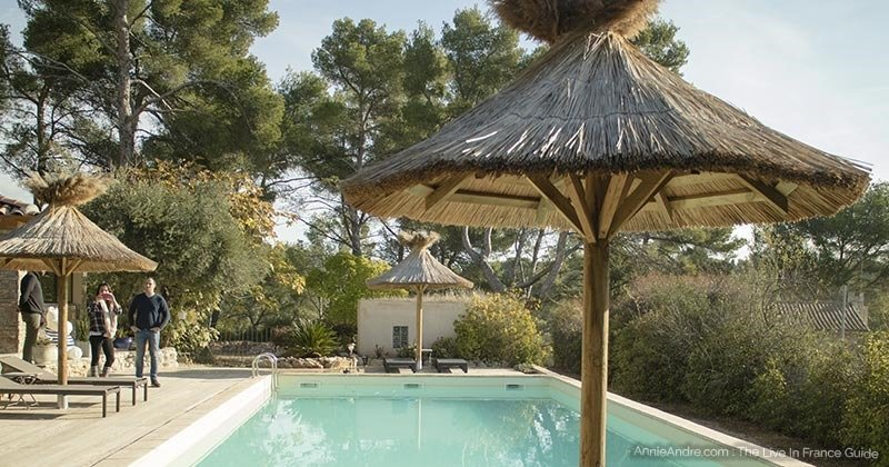 Pool at bubble hotel at attrap reves in Marseille France