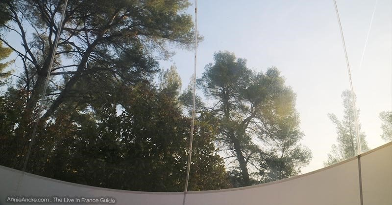 This was our view in the morning in our bubble room a ATTRAP-REVES-in Allauch France
