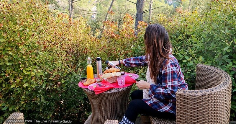 This was our breakfast in the morning in our bubble room a ATTRAP-REVES-in Allauch France