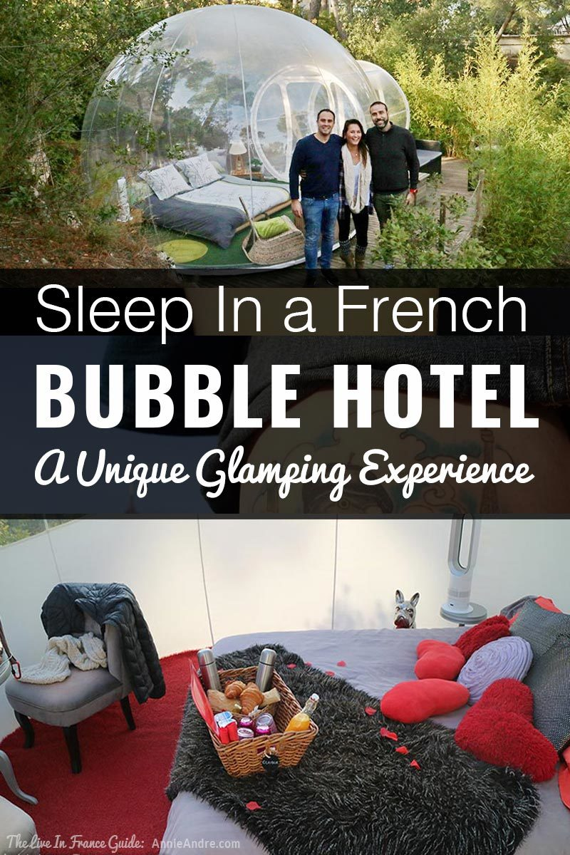 Glamping in a a bubble in the south of France. Amazing