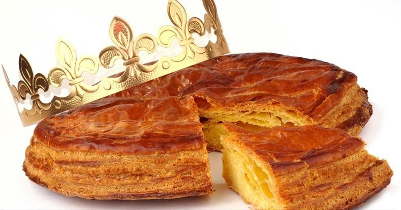 Eat king cake in France for the new year: les gallettes des rois