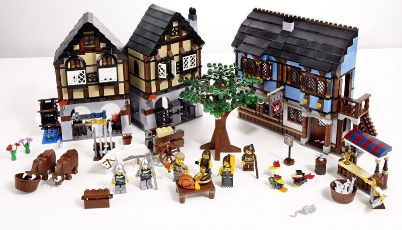 Lego gift medieval market village: a French and travel inspired gift idea for kids