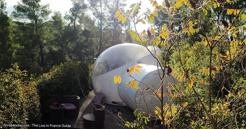 secluded-bubble-room glamping in the south of France Attrap Reves