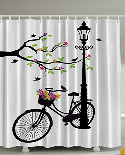 Artsy French Shower Curtains image attachment (large)