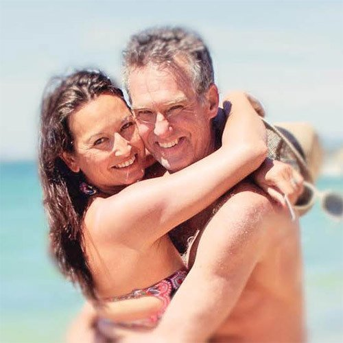 Blake and Annie photo at the beach in the South of France
