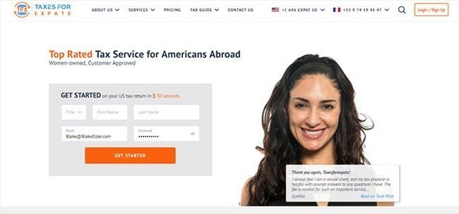 Taxes for expats sign up for a free 30 minute consultation