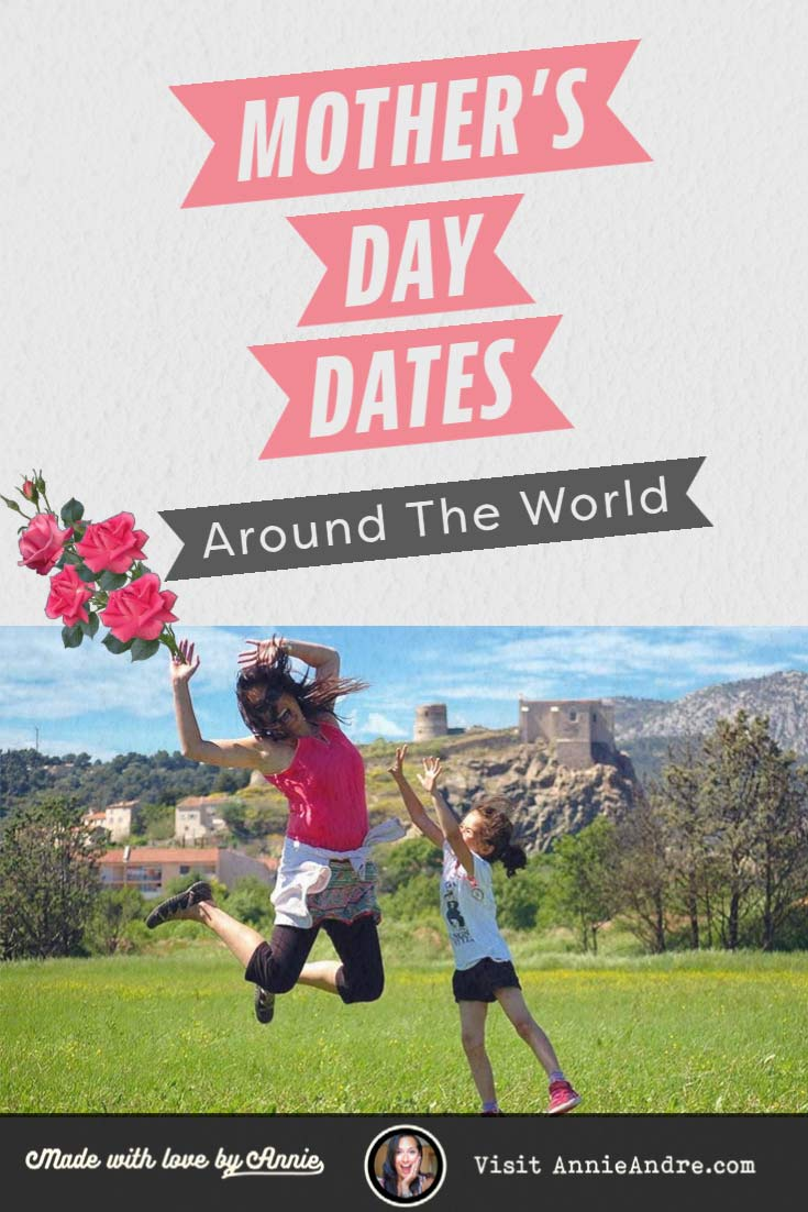 Pin: Mothers day in France plus dates around the world