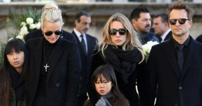 French law: Johnny Hallyday's 2 biological chidren are contesting the will of their French father.