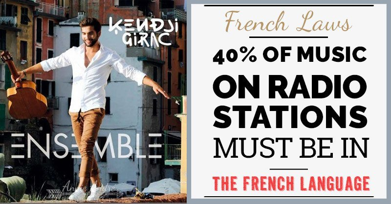 weird French laws: Radio stations in France have a French music quota they must meet