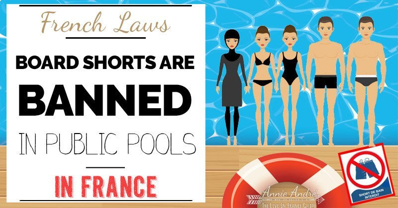 Funny French law: Board shorts are one of many things banned from swimming pools in France