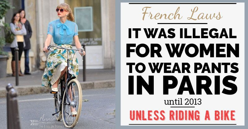 Weird French Laws: It was illegal for women to wear pants in Paris up until 2013
