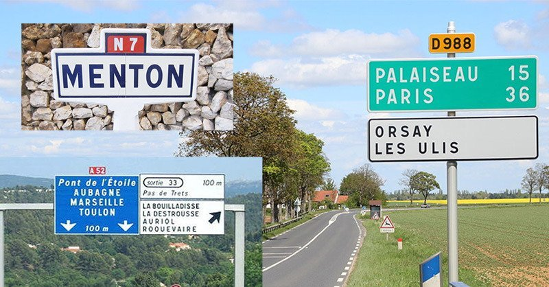 french-road-types, National, department and autoroutes