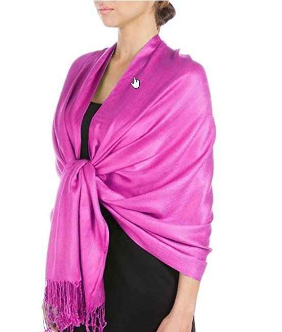 Pashminas are a versatile travel clothing item to pack in your bags