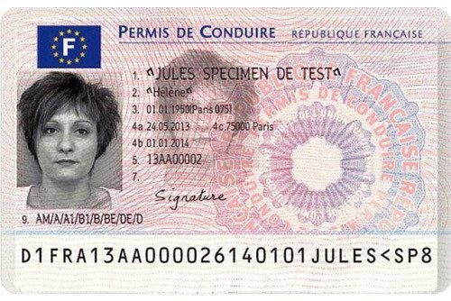French drivers permit license to drive in France