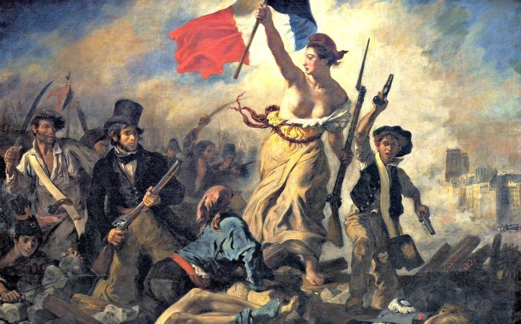 Lady Liberty leading the people by Eugène Delacroix