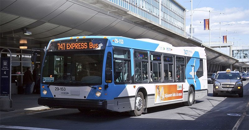 Getting to downtown Montreal from the airport on the 747 express bus