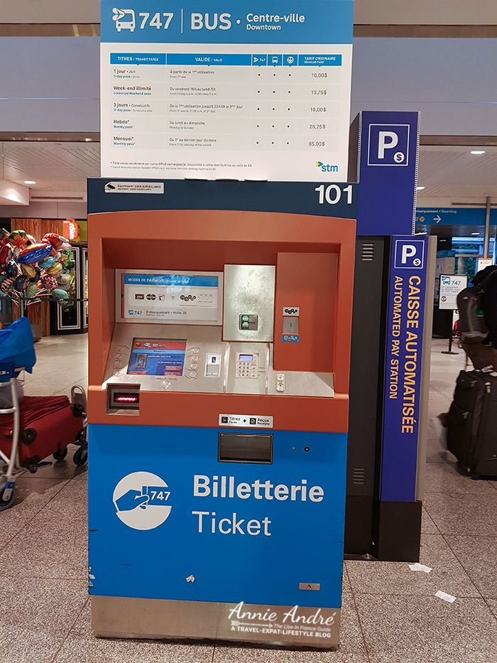 747 express airport bus ticket vending machines