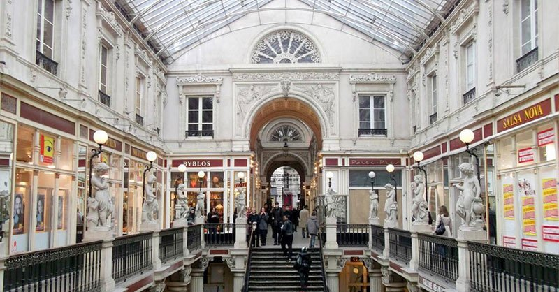 Nantes-Passage-Pomeraye. A popular shopping street in Nantes is Rue Crébillon