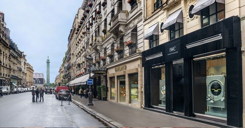 rue-de-la-paix- a popular shopping street in Paris France