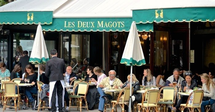 paris-Boulevard-St.-Germain is where the world famous les-deux-magots cafe is located