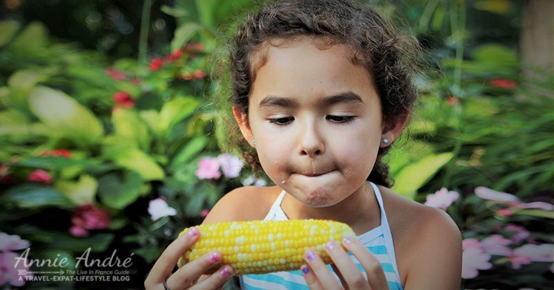French people generally don't eat corn, ever