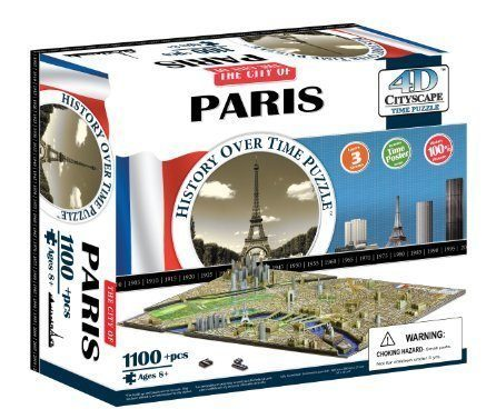 4D Cityscape Paris Time Puzzle: A French inspired gift for kids