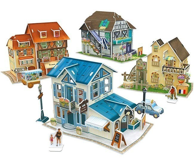 French village 3D puzzle: A French inspired gift for kids