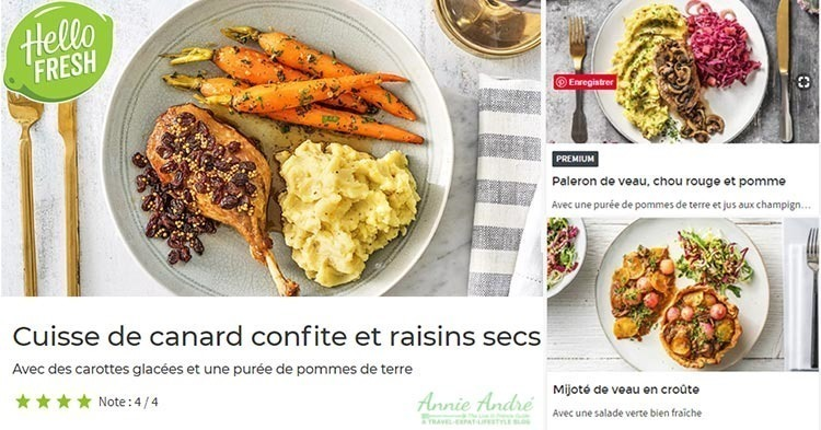Meal kit from Hello Fresh France