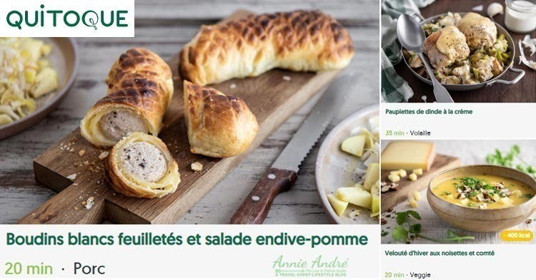French Meal kits from Quitoque: competitor to Hello Fresh In France
