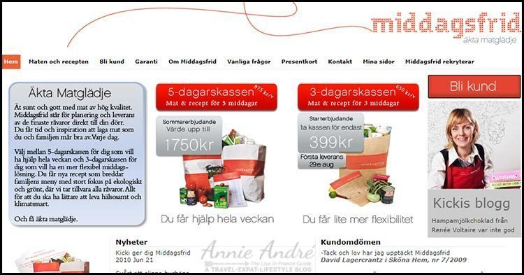 Middagsfrid-In 2007 they created the first meal kit service (a Swedish company)