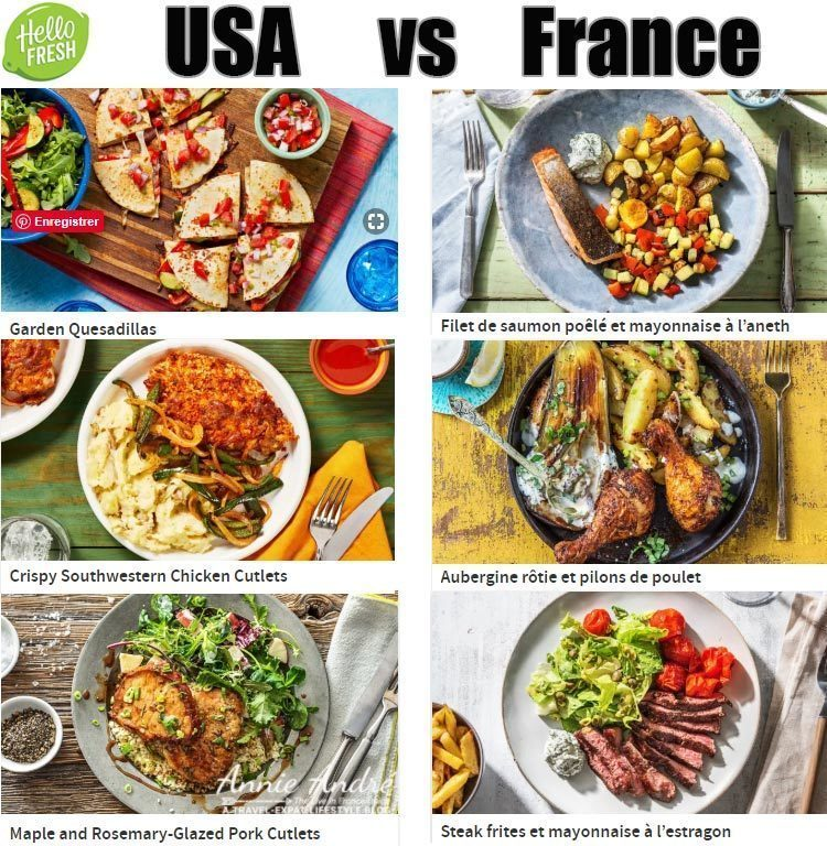 Hello Fresh France recipes are not the same as Hello Fresh USA. They are localized to local cuisine and local taste.