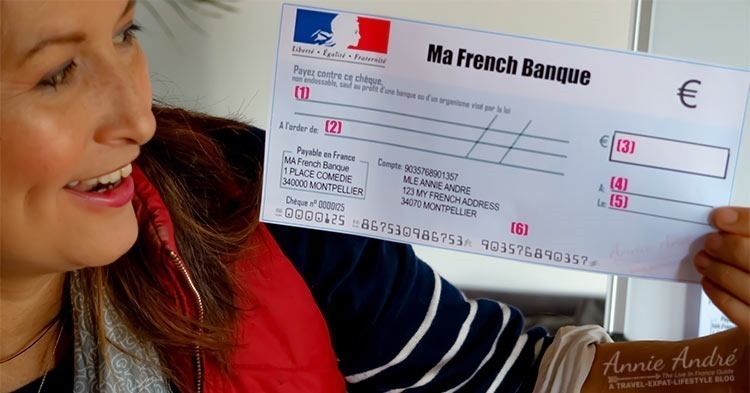 How to write and fill in a French bank check (cheque)