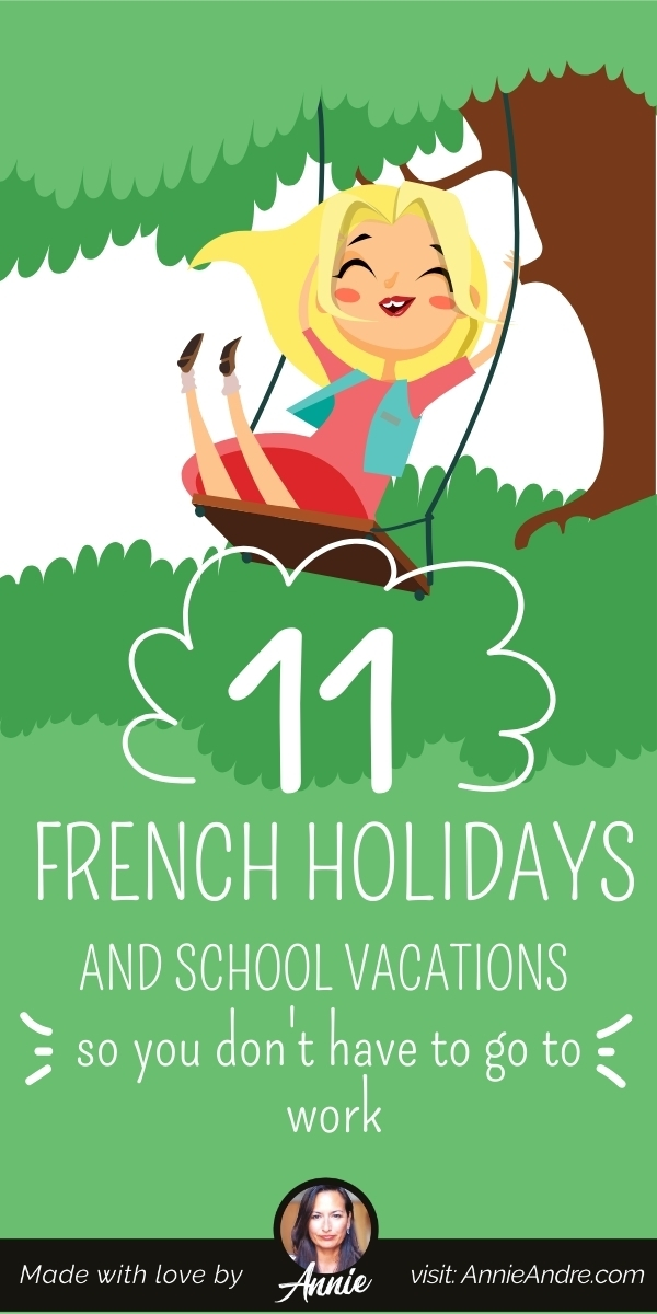 Pintrest pin about French public holidays