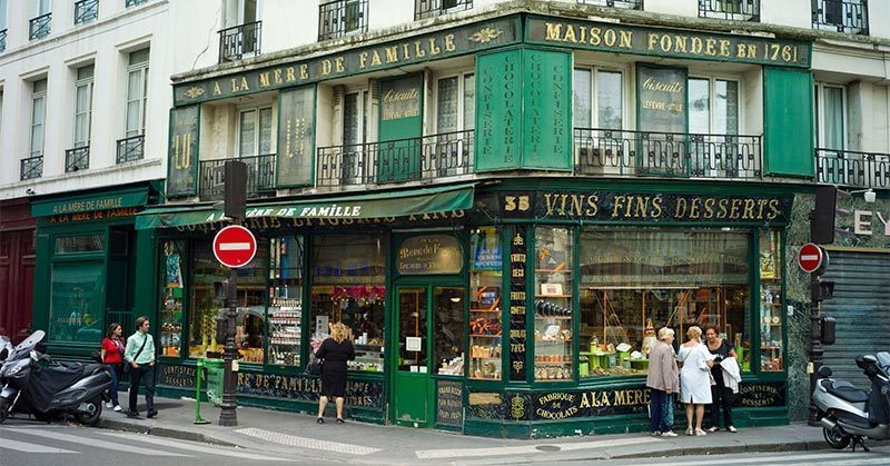 A visit to A-la-mere-de-famille, the oldest-chocolaterie sweet shop in Paris is a romantic thing to do as a couple