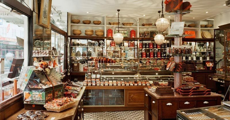 A LA MERE DE FAMILLE: Paris' oldest sweet shop. A fun shop for couples to visit while in Paris.