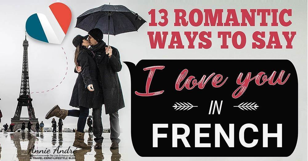 Romantic ways to say I love you in French using the phrase je t'aime