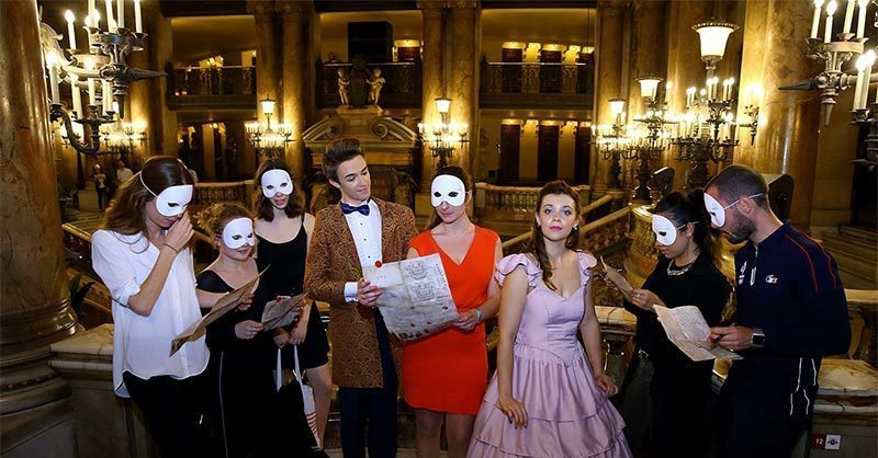 "Romantic activities to do in Paris: ""inside opera"" lifes size excape game at Palais Garnier-escape-room in Paris"