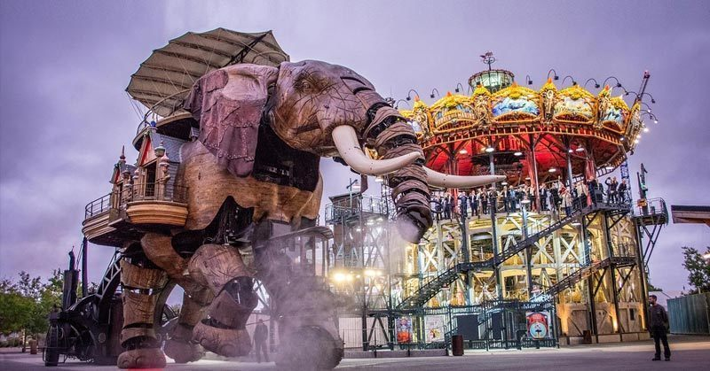 Top 10 Cities in France: Nantes, Machines of the isle; Nantes is the 6th largest city in France in terms of population
