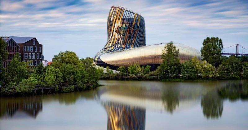bordeaux France's 9th largest most populous city (photo of CITÉ DU VIN wine museum)