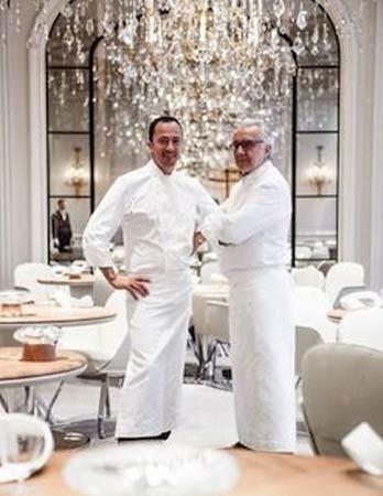 Alain Ducasse au Plaza Athénée: 3 star Michelin restaurant in Paris France
