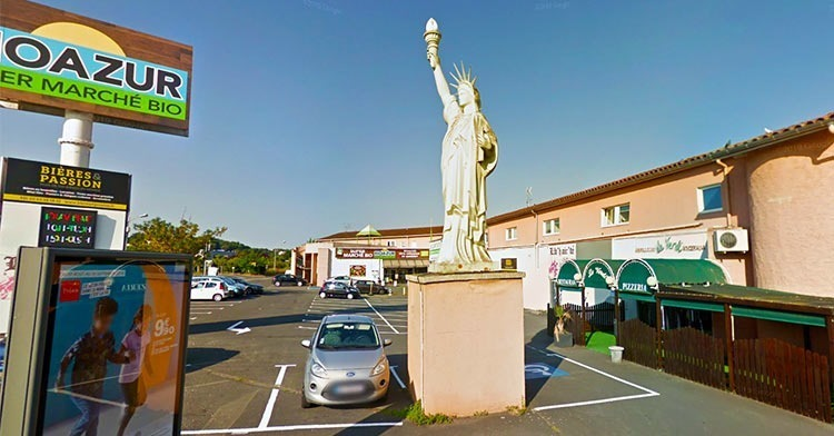 Albi-France-statue-of-liberty-replica
