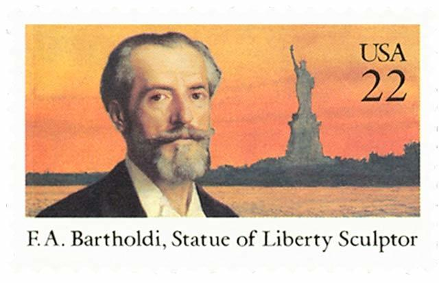 BARTHOLDI Sculptor Statue of Liberty Stamp