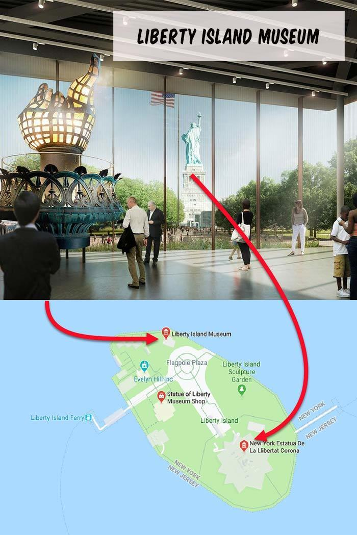 New statue of liberty Island museum in New York