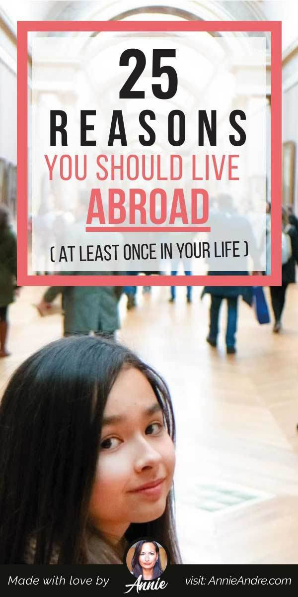 pintrest pin about 25 reasons live abroad atleast once in life