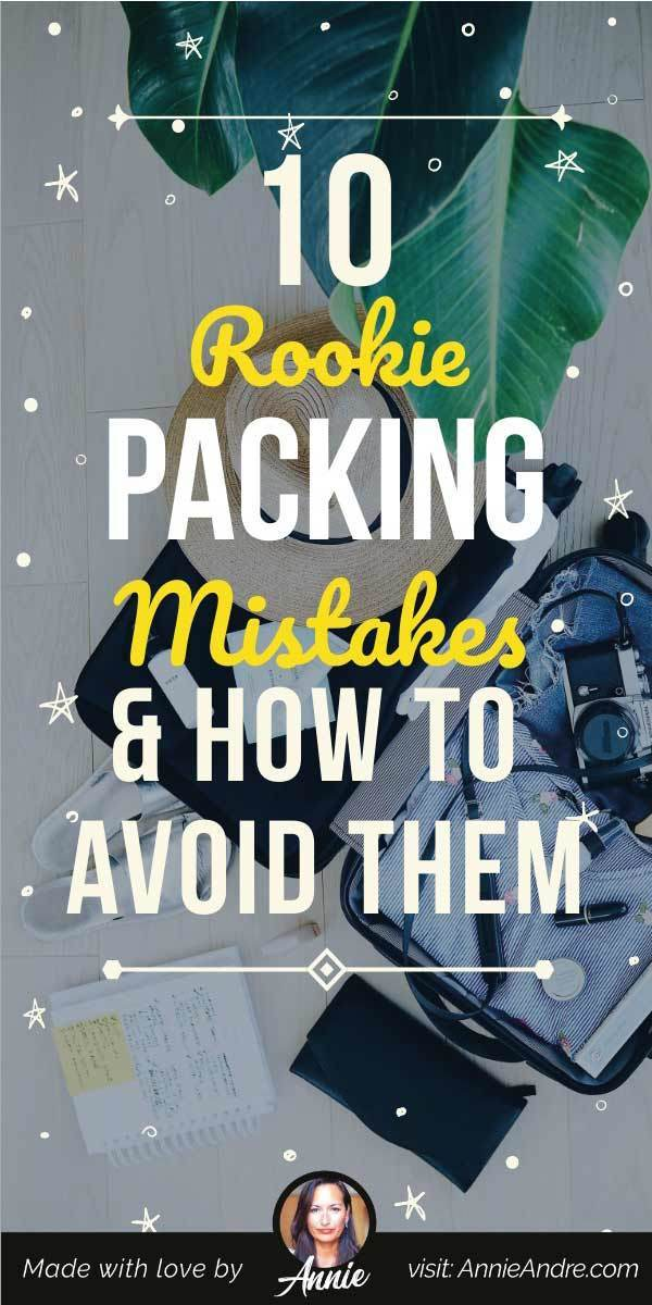 pintrest pin about Common travel packing mistakes