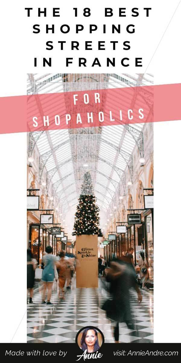 Pintrest pin about the most Expensive shopping streets france