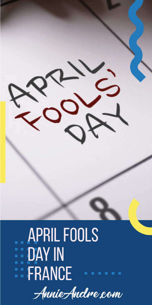 image for pinterest about April fools day in France