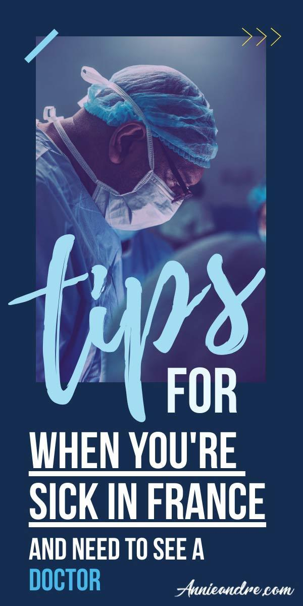 image for pinterest about finding a doctor in France